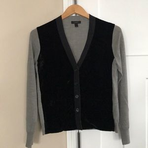J. Crew black/gray lightweight sweater